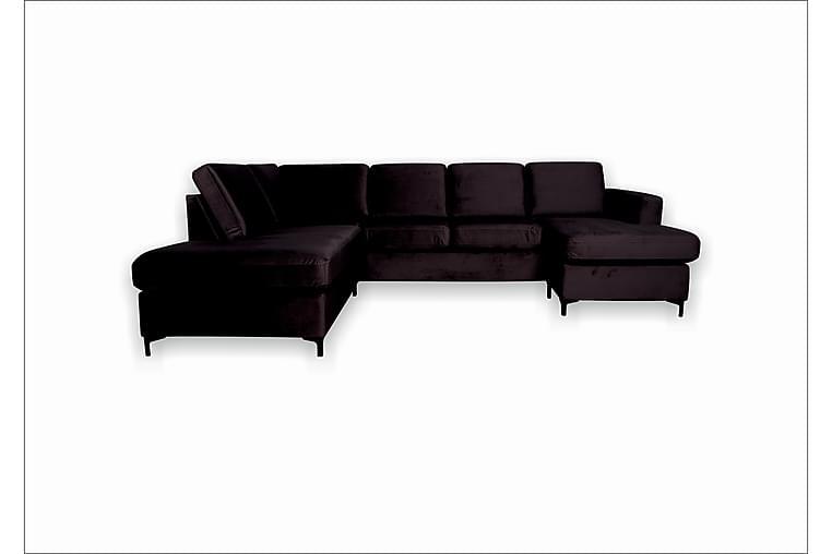 Ollenbell U-sofa - Grå - Møbler - Sofaer - Sofaer med sjeselong & U-sofaer