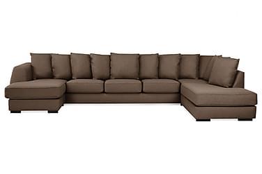 Optus U-sofa Large med Divan Venstre inkl. Konvoluttputer