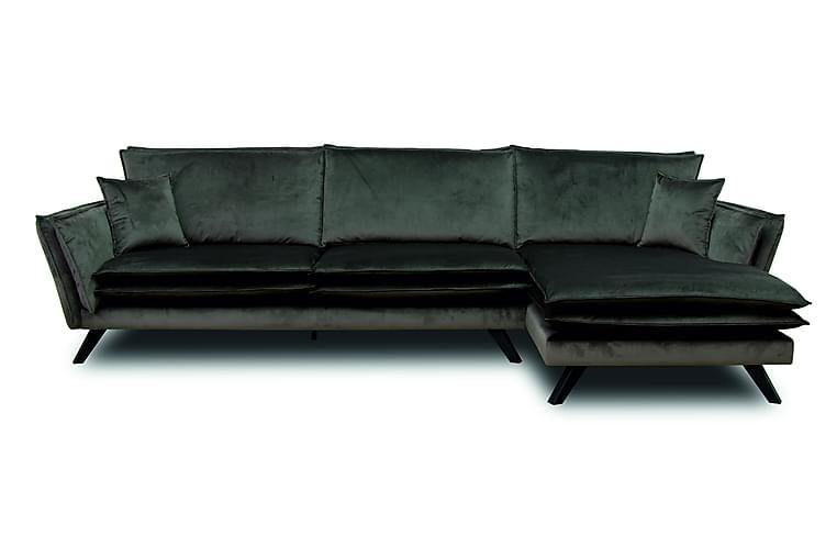Paldermo 3-seters Sofa med Divan Høyre - Mørkegrå - Møbler - Sofaer - Sofaer med sjeselong & U-sofaer