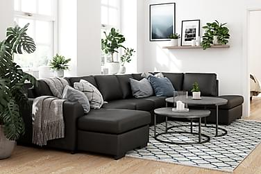 Porto U-sofa Large Høyre Kunstlær