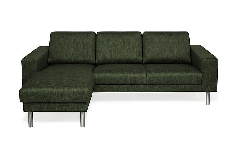 Runsala Divansofa 4-seter Vendbar - Grønn - Møbler - Sofaer - Sofaer med sjeselong & U-sofaer