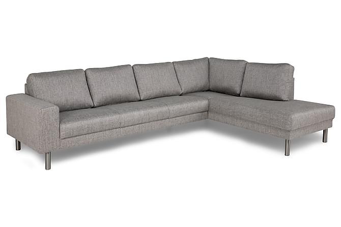 Runsala Sofa Large med Sjeselong Høyre - Lysegrå - Møbler - Sofaer - Sofaer med sjeselong & U-sofaer