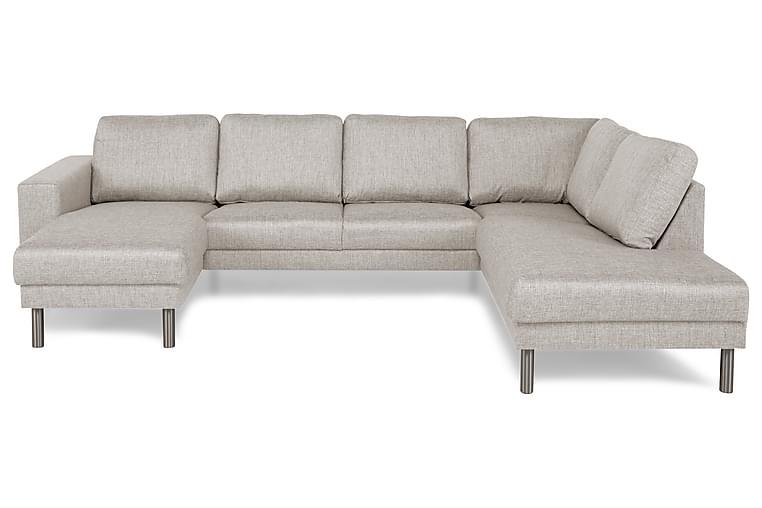 Runsala U-sofa med Divan Venstre - Beige - Møbler - Sofaer - Sofaer med sjeselong & U-sofaer