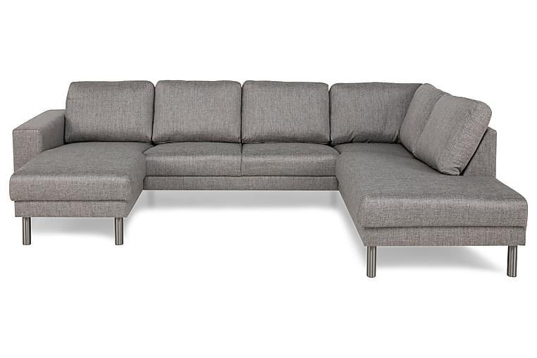Runsala U-sofa med Divan Venstre - Lysegrå - Møbler - Sofaer - Sofaer med sjeselong & U-sofaer