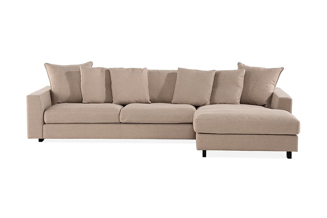 Sibela 2,5-seters Sofa med Sjeselong Høyre - Beige - Møbler - Sofaer - Sofaer med sjeselong & U-sofaer