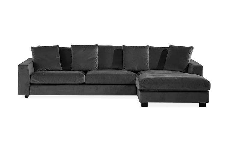 Sibela 2,5-seters Sofa med Sjeselong Høyre - Grå - Møbler - Sofaer - Sofaer med sjeselong & U-sofaer