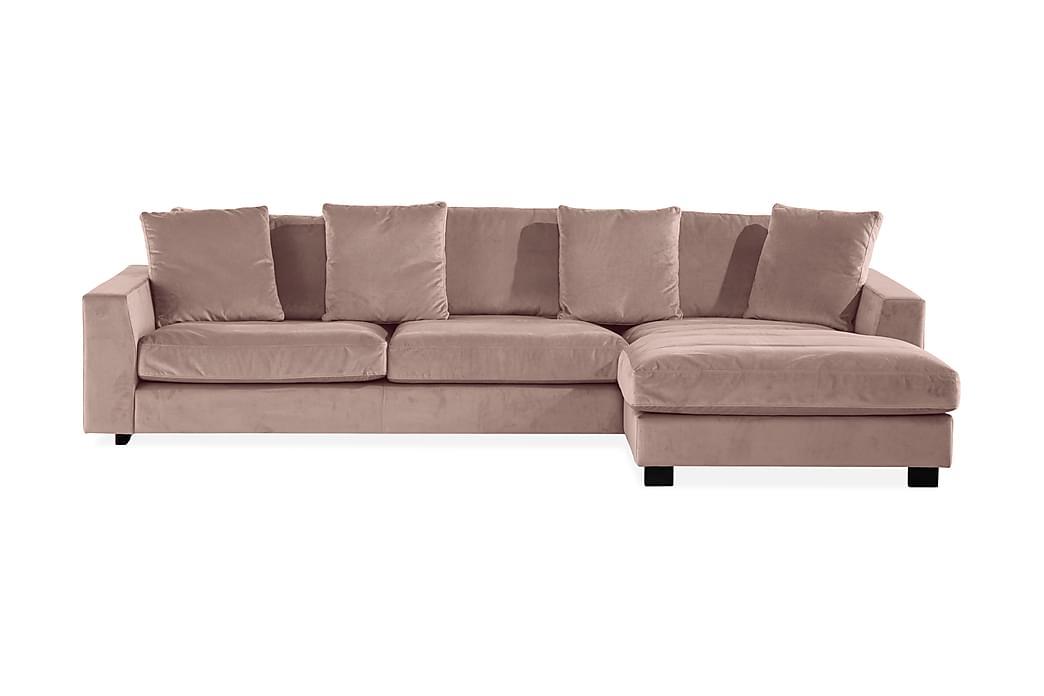Sibela 2,5-seters Sofa med Sjeselong Høyre - Rosa - Møbler - Sofaer - Sofaer med sjeselong & U-sofaer
