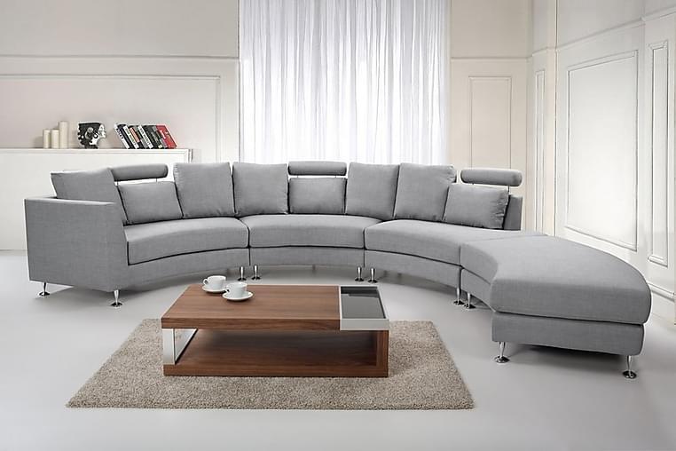 Sovesofa 448 cm - Grå - Møbler - Sofaer - Sofaer med sjeselong & U-sofaer