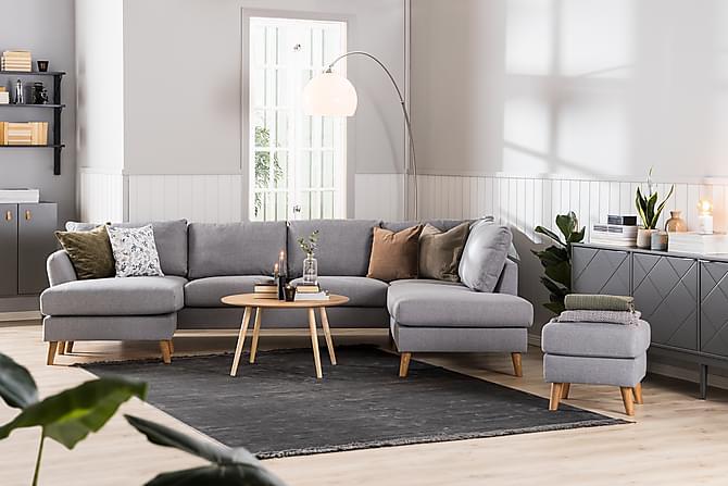 Trend Soffa 3-seter med Sjeselong Venstre - Lysegrå - Møbler - Sofaer - Sofaer med sjeselong & U-sofaer