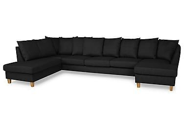 Wave U-sofa Large med Divan Høyre inkl. Konvoluttputer
