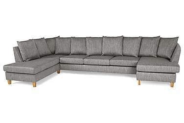 Wave U-sofa Large med Divan Høyre Konvoluttputer Vaskb. Stof