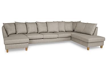 Wave U-sofa Large med Divan Venstre inkl. Konvoluttputer