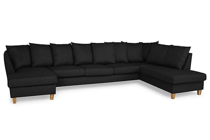 Wave U-sofa Large med Divan Venstre inkl. Konvoluttputer - Mørkegrå - Møbler - Sofaer - Sofaer med sjeselong & U-sofaer