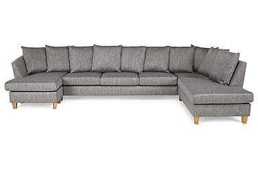 Wave U-sofa Large med Divan Venstre Konvoluttputer Vaskb. St