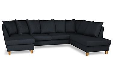 Wave U-sofa med Divan Venstre inkl. Konvoluttputer