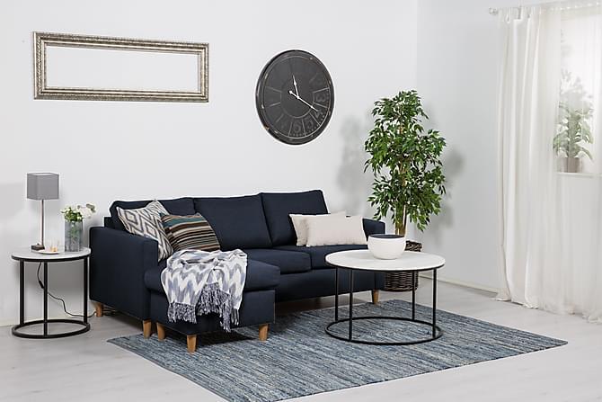 Zero Divansofa 3-seter Vendbar - Blå - Møbler - Sofaer - Sofaer med sjeselong & U-sofaer