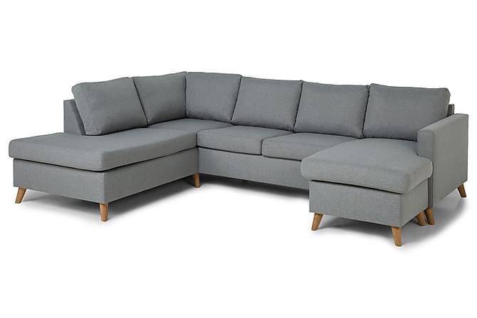Zero U-sofa med Divan Høyre - Lysegrå - Møbler - Sofaer - Sofaer med sjeselong & U-sofaer