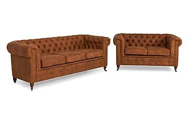 Chesterfield Deluxe Sofagruppe 3-seter+2-seter