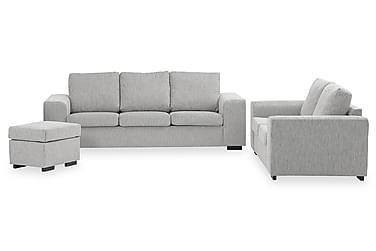 Connect Sofagruppe 3-seter+2-seter+Fotskammel 60 cm