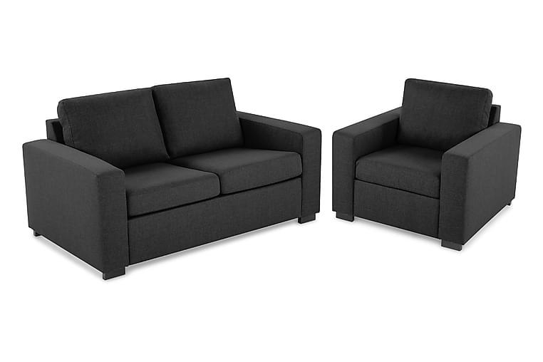 Crazy Sofagruppe 2-seters+Lenestol - Mørkegrå - Møbler - Sofaer - Sofagrupper