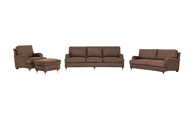 Darcy Sofagruppe 3-seter+2-seter+Lenestol - Brun - Møbler - Sofaer - Sofagrupper