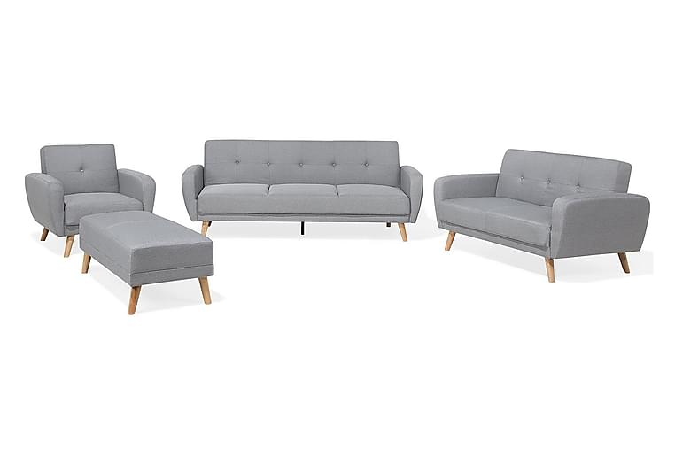 Florli Sofagruppe 2 -seters+2-seters - Grå - Møbler - Sofaer - Sofagrupper