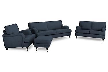 Howard Classic Sofagruppe 2+3,5-seter+Lenestol+Fotskammel