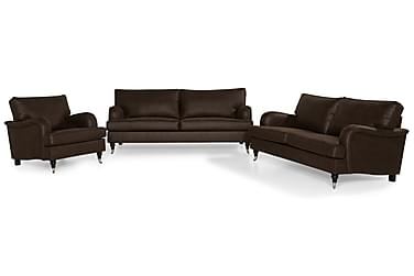 Howard Classic Sofagruppe 2-seter+3,5-seter+Lenestol+Fotskam