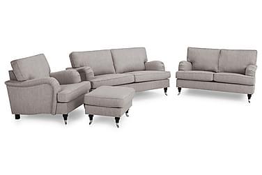 Howard Classic Sofagruppe 3+2-seter+Lenestol+Fotskammel
