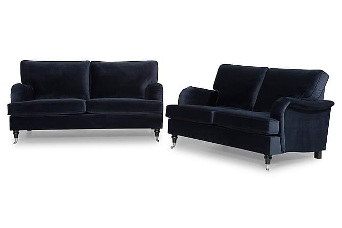 Howard Classic Sofagruppe 3-seter+2-seter Fløyel - Midnattsblå - Møbler - Sofaer - Sofagrupper