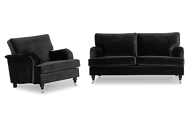 Howard Classic Sofagruppe 3-seter+Lenestol Fløyel