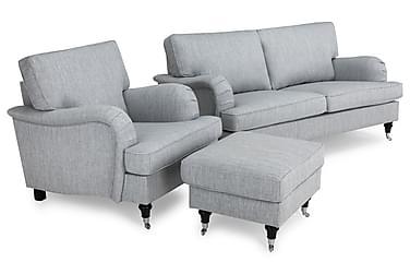 Howard Classic Sofagruppe 3-seter+Lenestol+Fotskammel