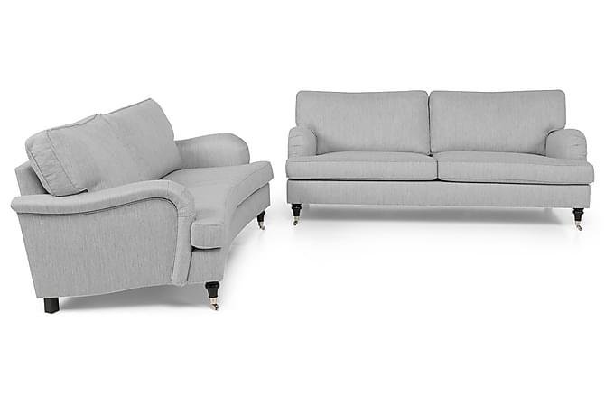 Howard Classic Sofagruppe 3-seter Rak + 2-seter Buet - Grå - Møbler - Sofaer - Howard-sofaer