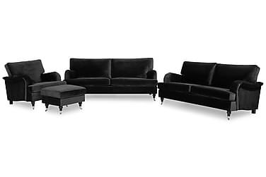 Howard Classic Sofagruppe 3,5-seter+3-seter+Lenestol+Fotskam