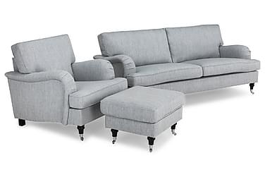 Howard Classic Sofagruppe 3,5-seter+Lenestol+Fotskammel