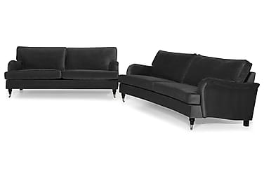 Howard Classic Sofagruppe 3,5-seter Rett + 2-seter Buet Fløy
