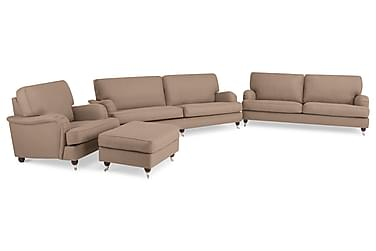 Howard Lyx Sofagruppe Sofa 3+4-seter+Lenestol+Fotskammel