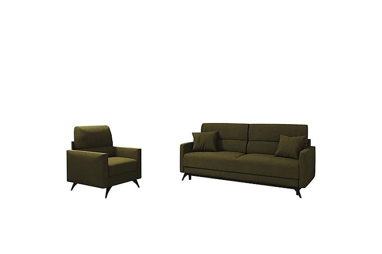 Renau Sofagruppe - Mosegrønn - Møbler - Sofaer - Sofagrupper