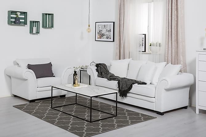 Toronto Sofagruppe 3-seter+Lenestol - Hvit - Møbler - Sofaer - Sofagrupper