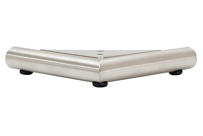 Sofaben Modell D 2,5 cm 4-Pack - Børstet Stål - Møbler - Sofaer - Sofatilbehør