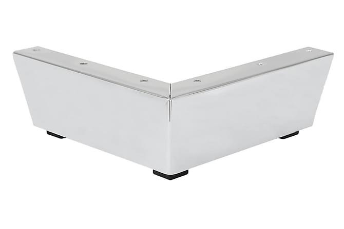 Sofaben Modell F 6,6 cm 10-Pack - Krom - Møbler - Sofaer - Sofatilbehør