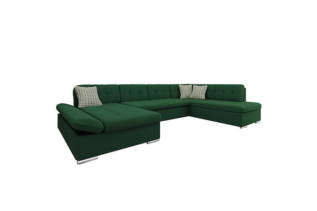 Hjørnesovesofa Grønn - Møbler - Sofaer - Sovesofaer