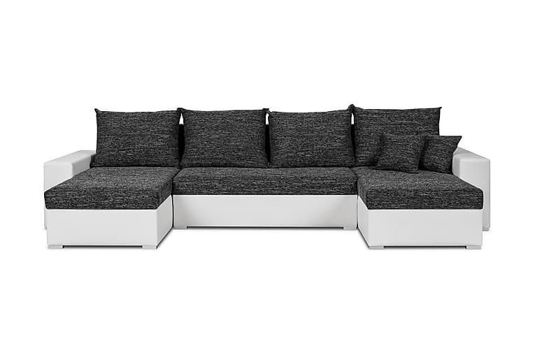 Otura U-Sofa - Grå/Hvit - Møbler - Sofaer - Sovesofaer