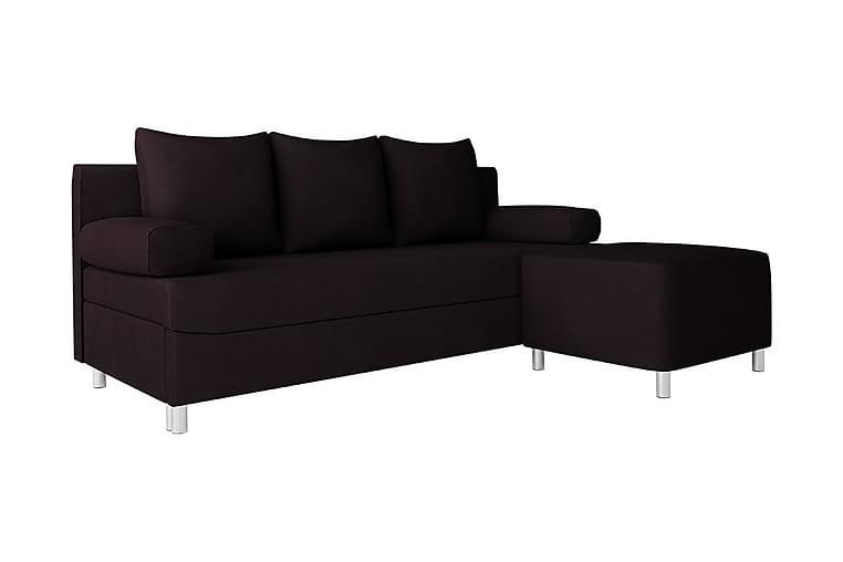 Skatteg Sofa med Puff - Svart - Møbler - Sofaer - Sovesofaer