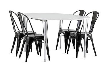 Tyson Spisegruppe 160 cm + 4 Amparo stol