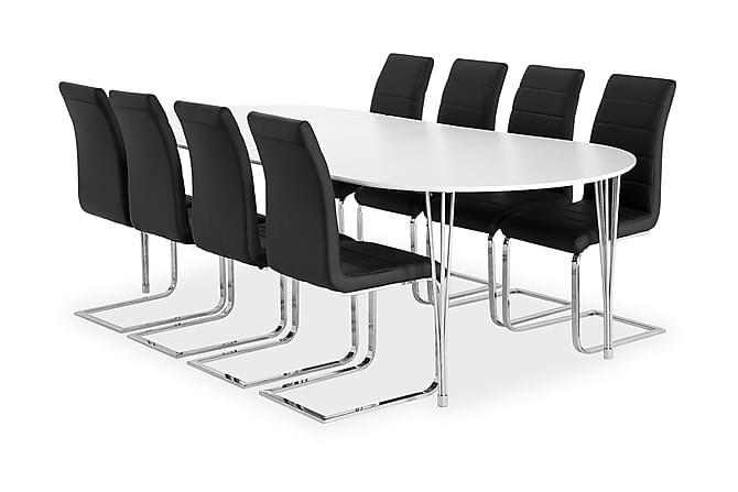 Tyson Spisegruppe 160 cm + 8 Sorado Stoler - Møbler - Spisegrupper - Oval spisegruppe