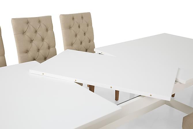 Altea Spisegruppe Hvit med 6 Jenny Stoler - inkl. Ileggsplate - Møbler - Spisegrupper - Rektangulær spisegruppe