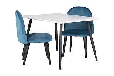Bennie Spisegruppe 80 cm med 2 Spisestoler Fløyel