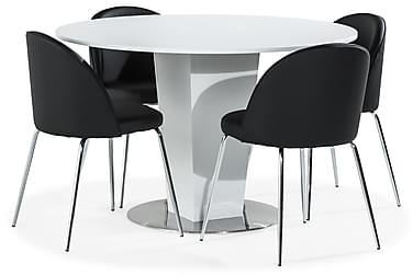 Cubic Spisebord 120 cm 4 Felipe Stoler Kunstlær