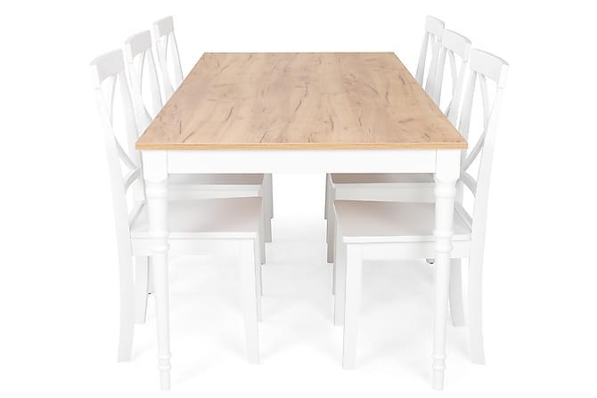 Erin Spisegruppe med 6 Mirimarol - Møbler - Spisegrupper - Rektangulær spisegruppe